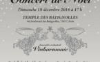 Vivharmonie Concert de Noël 2016 le dimanche 18 décembre à 17h à Paris